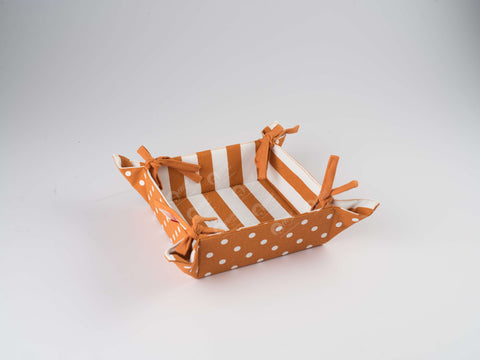 Bread Basket - Polka Dot Burnt Orange