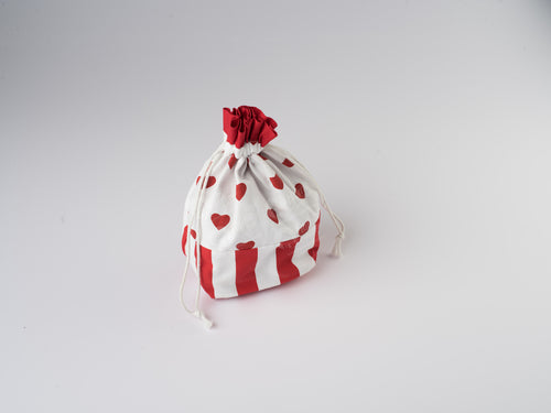 Gift Bag - Large Hearts Red