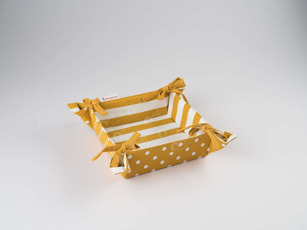 Bread Basket - Polka Dot Mustard