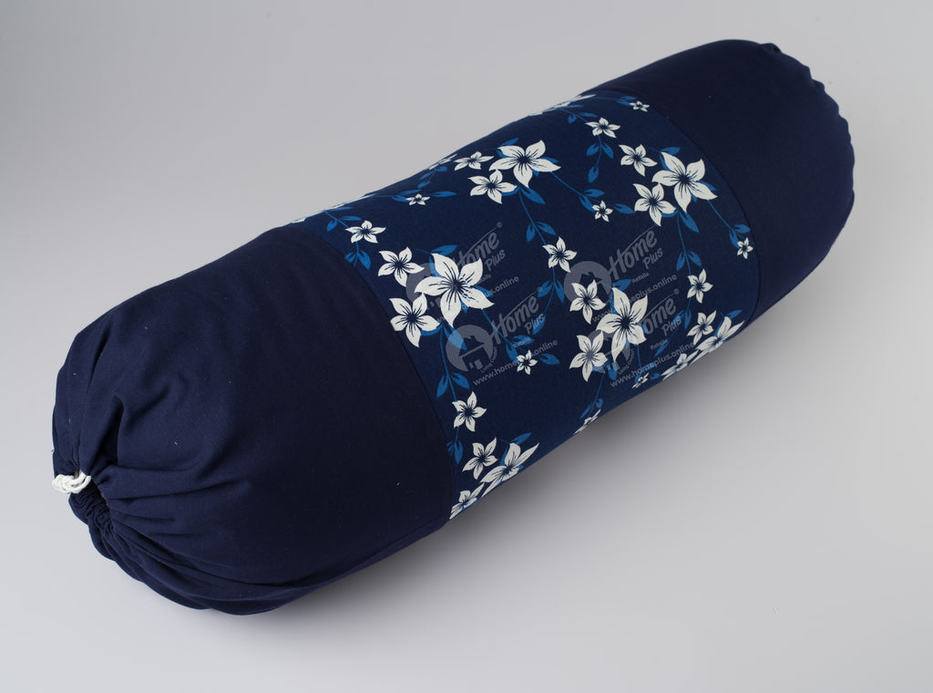 Bolster Cover - Wind Flower Navy