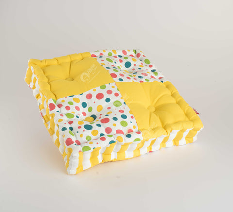 Floor Cushion - Multi Polka J