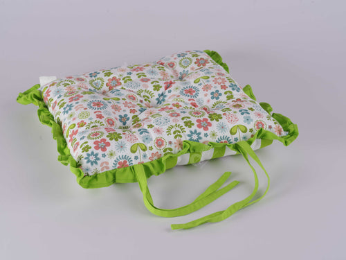 Frill Cushion - Retro Flowers