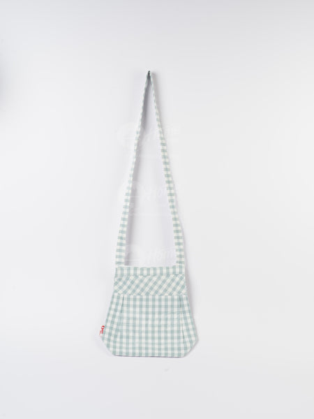 Fancy Bag Long Handle - Gingham Check Blue