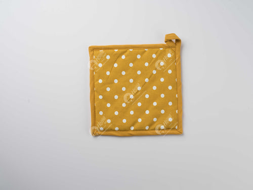 Pot Holder - Polka Dot Mustard