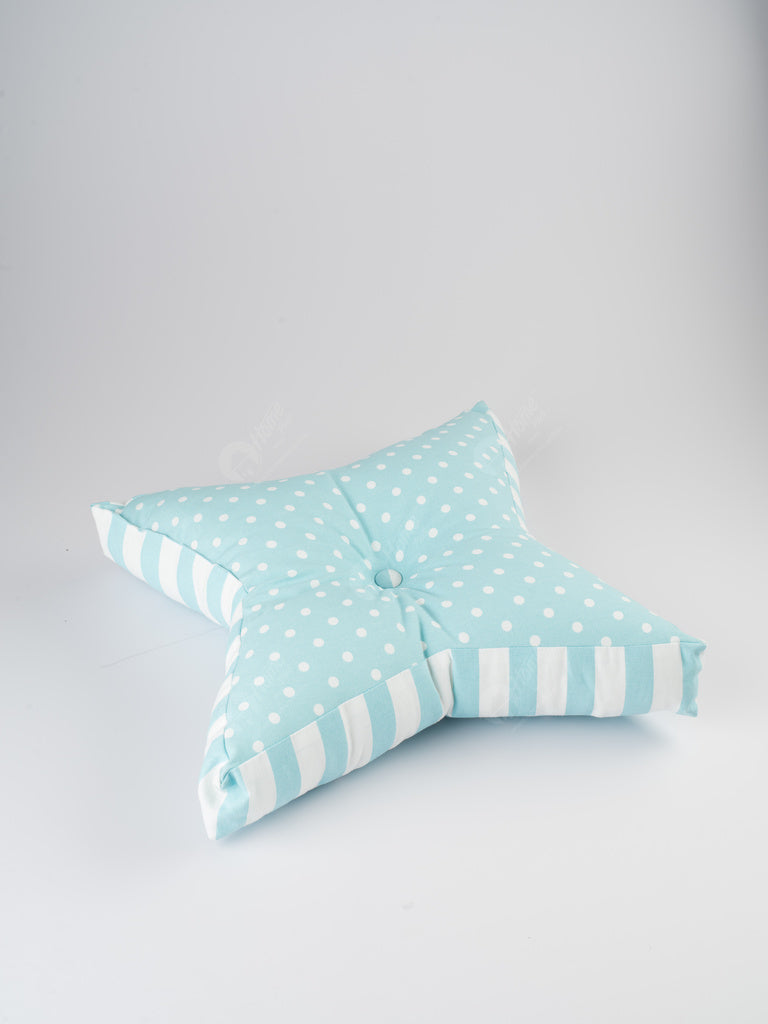 Floor Cushion S - Polka Dot Blue