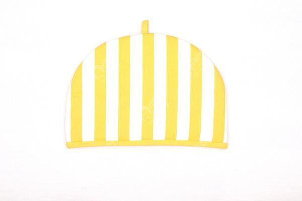 Tea Cozy - Thick Stripe Yellow