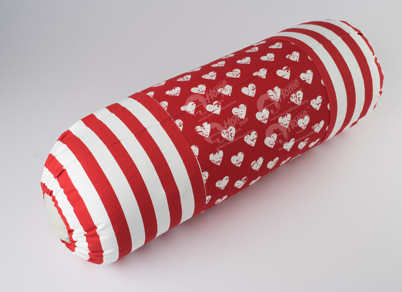 Bolster Cover - Heart Pro Red