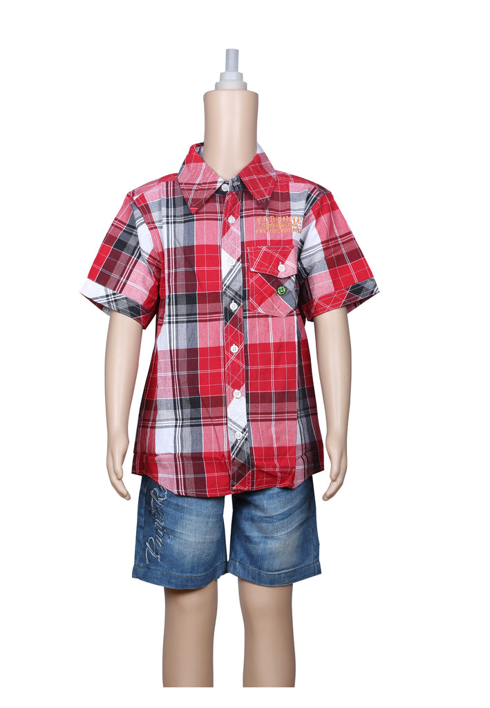 Kids Casual Shirt- Checked
