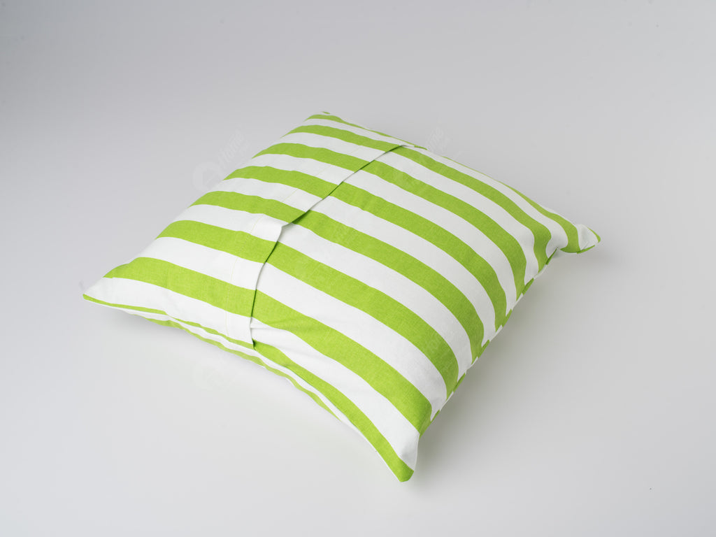 Cushion Cover - Thick Stripe Green