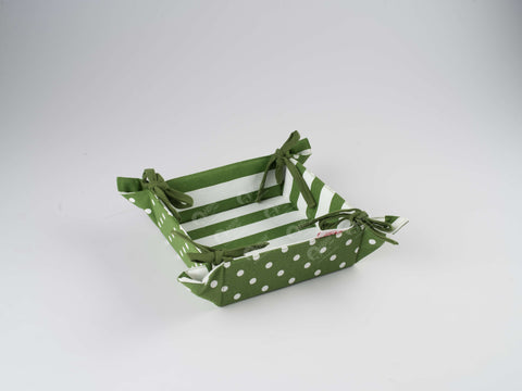 Bread Basket - Polka Dot Dark Olive