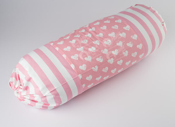 Bolster Cover -Heart Pro Pink