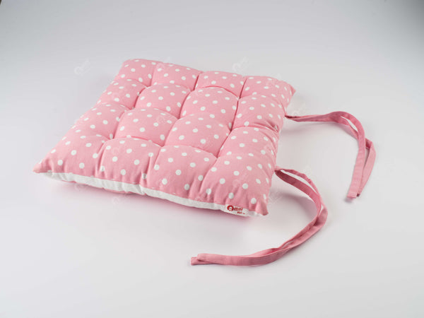 Chair Pad - Polka Dot Pink