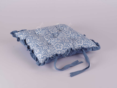 Frill Cushion - Lace AF Blue
