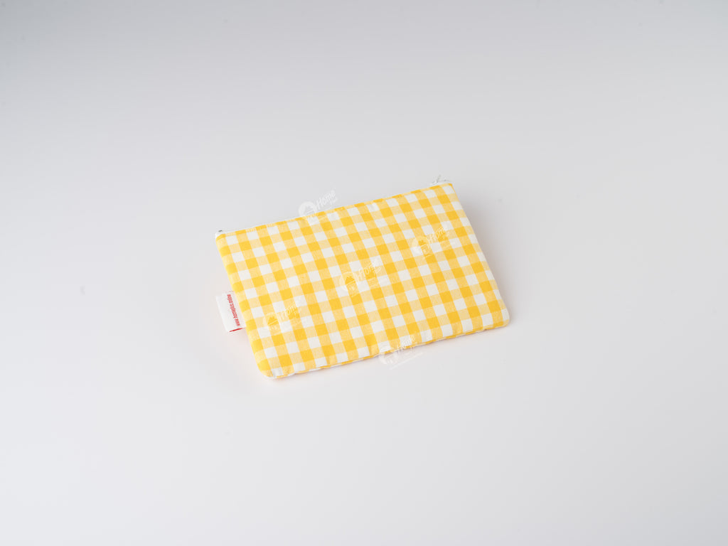 Pouch - Gingham Check Yellow