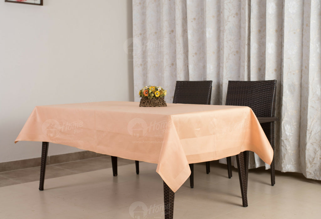 Border Table Cloth - Solid Orange