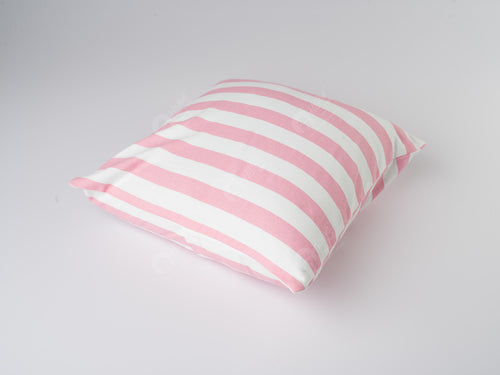 Cushion Cover - Thick Stripe Pink
