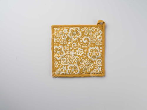 Pot Holder - Lace Mustard