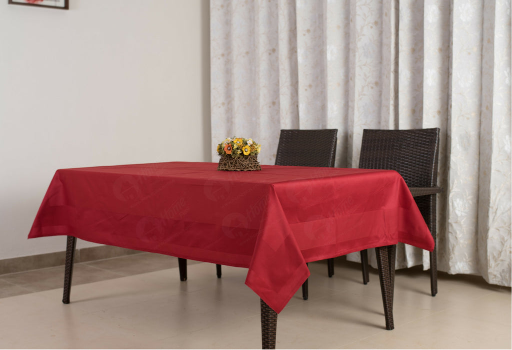 Border Table Cloth - Maroon