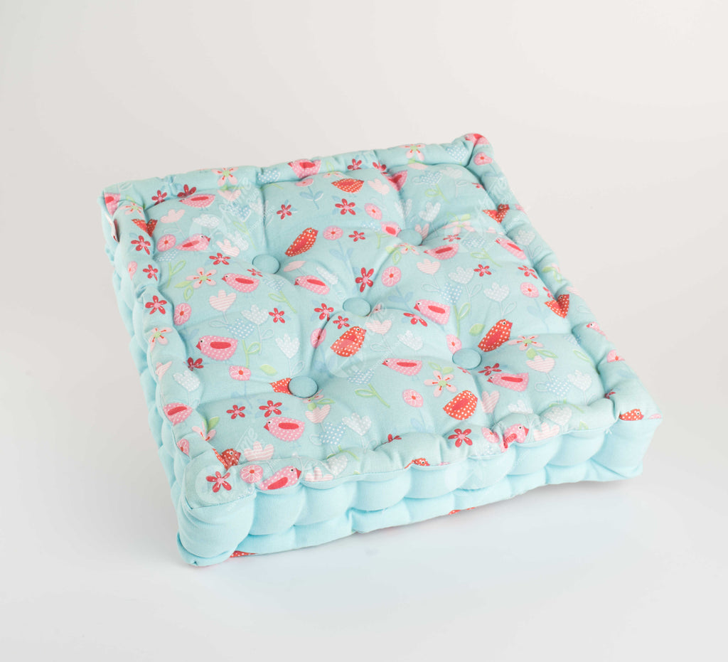 Floor Cushion - Birds & Flowers