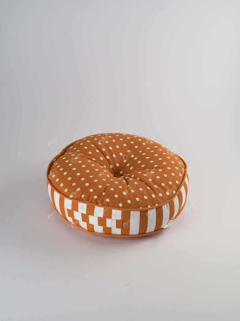 Floor Cushion R - Polka Dot Burnt Orange