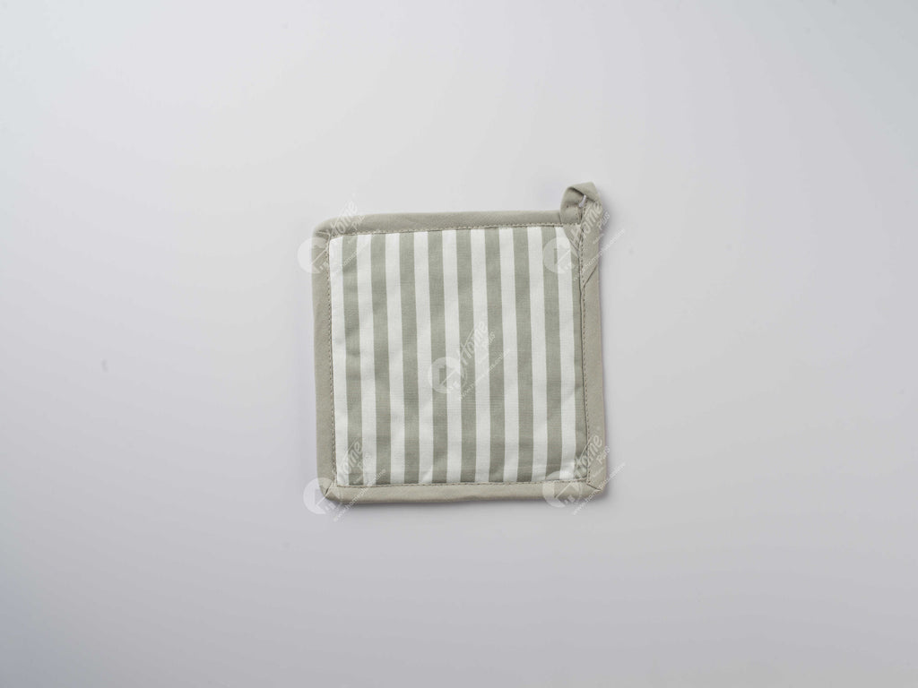 Pot Holder - Thin Stripe Grey
