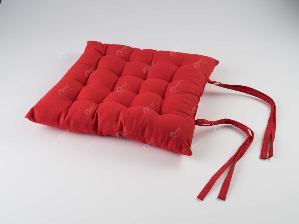 Chair Pad - Solid Red