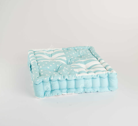 Floor Cushion - Polka Dot Blue J