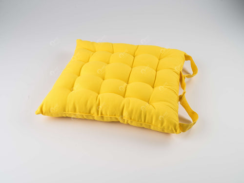 Chair Pad - Solid  Yellow