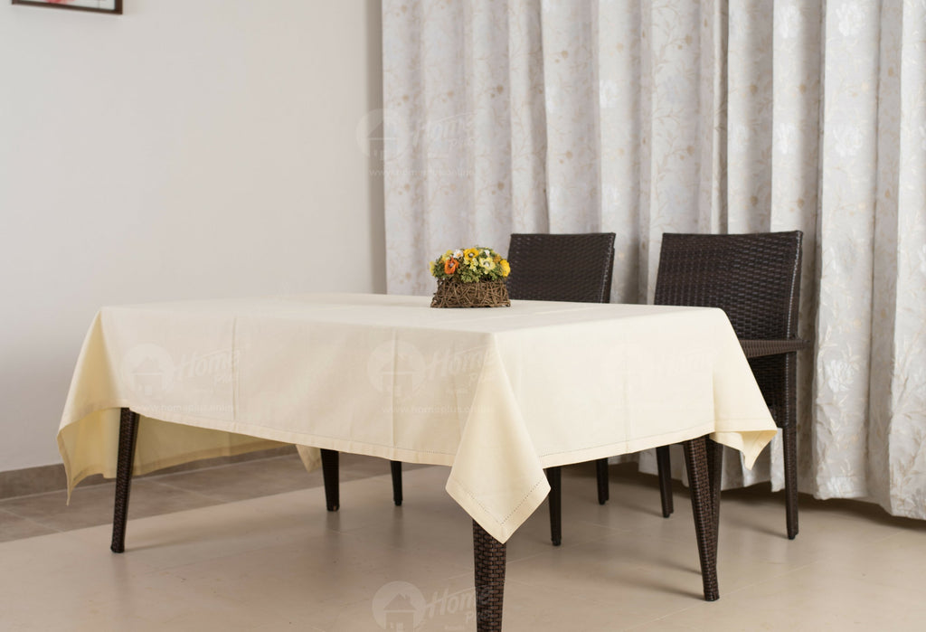 Table Cloth - Solid Cream