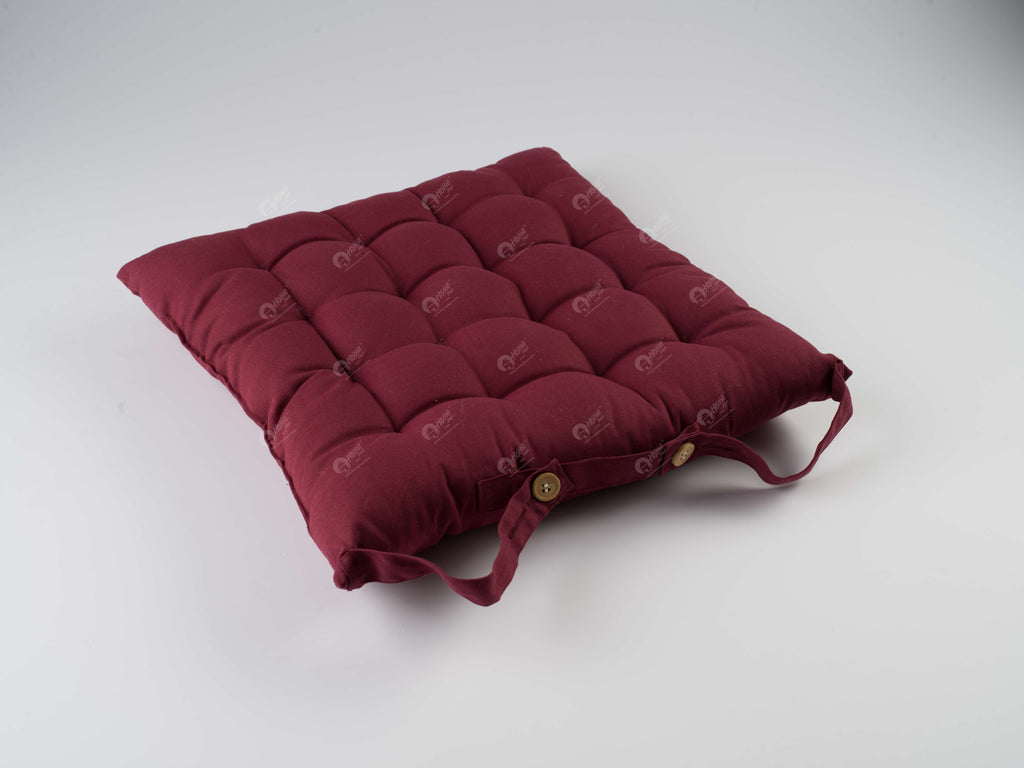 Chair Pad - Solid  Maroon