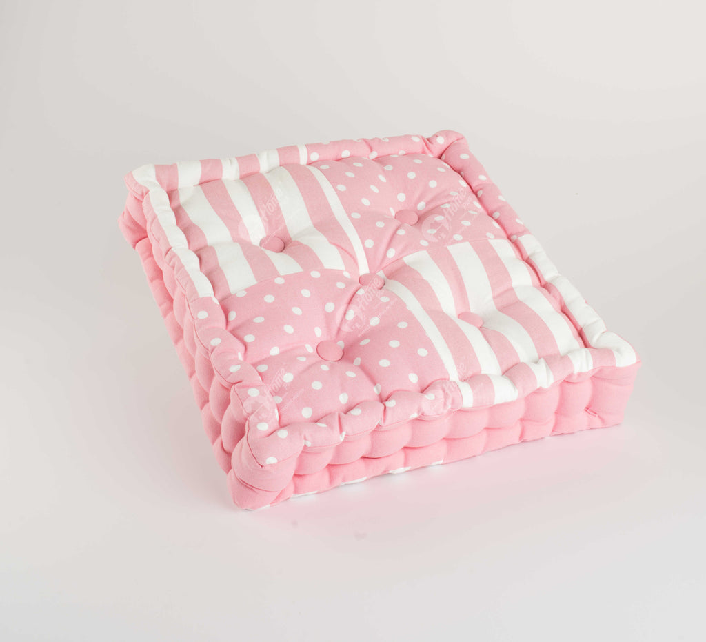 Floor Cushion - Polka Dot  Pink