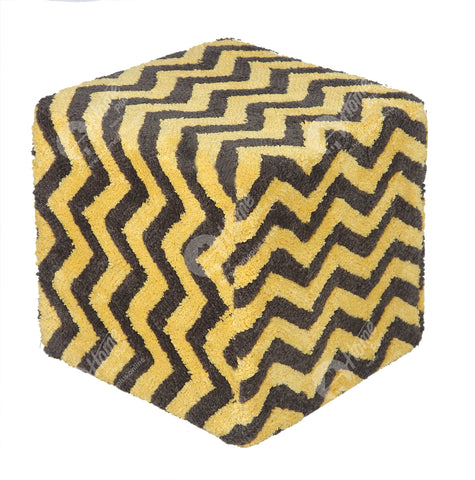 Cube Lite - Tuffted Chevron Yellow