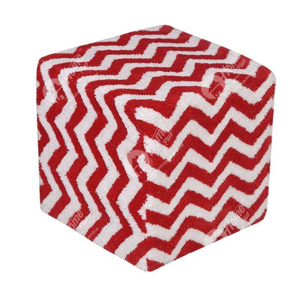 Cube Lite - Tuffted Chevron Red