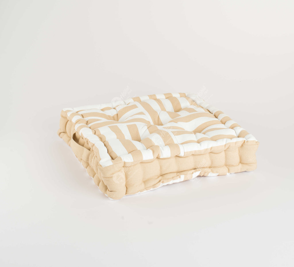 Floor Cushion - Thick Stripe Beige