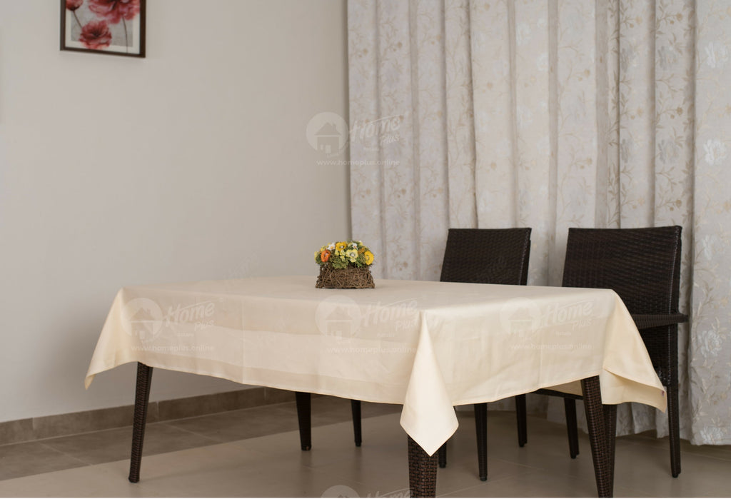 Border Table Cloth - Cream