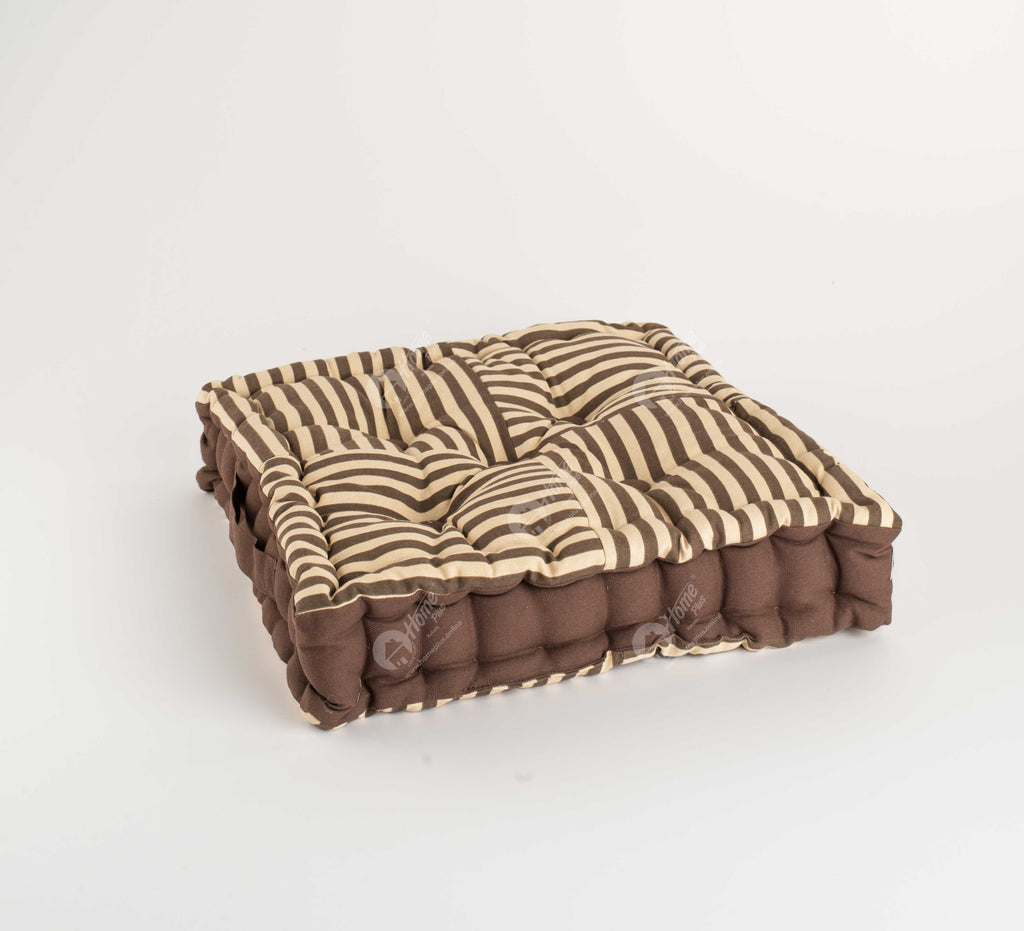 Floor Cushion - Thin Stripe Choco J