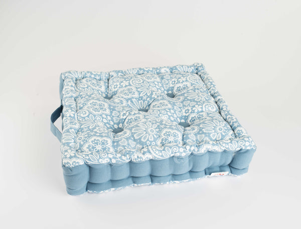 Floor Cushion - Lace AF Blue