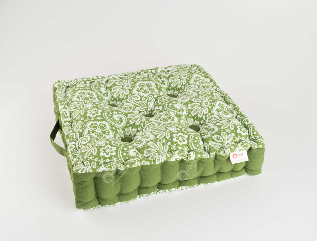 Floor Cushion - Lace Dark Olive