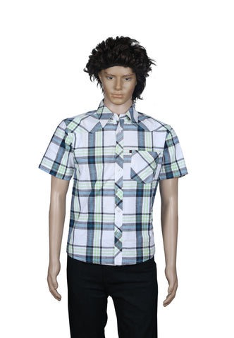 M Touch Men's Casual Shirt- Checked