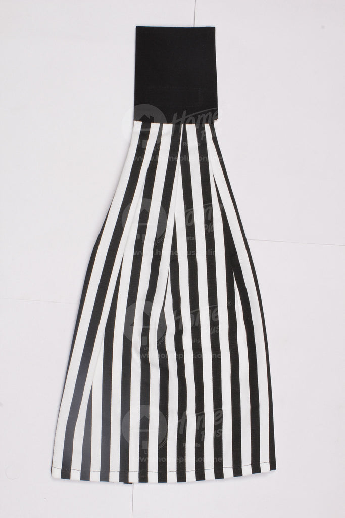 Wash Towel - Thin Stripe Black