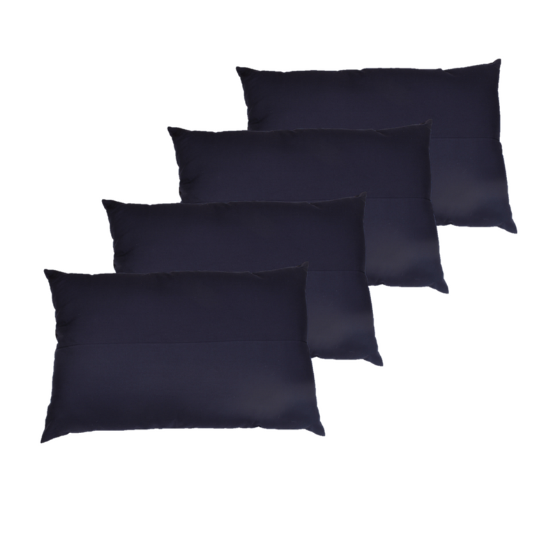 Pillow- Solid Navy  (Pack of 4)
