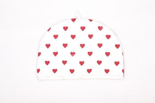Tea Cozy - Large Heart Red