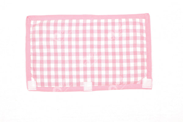 Fridge Handle - Gingham Check Pink