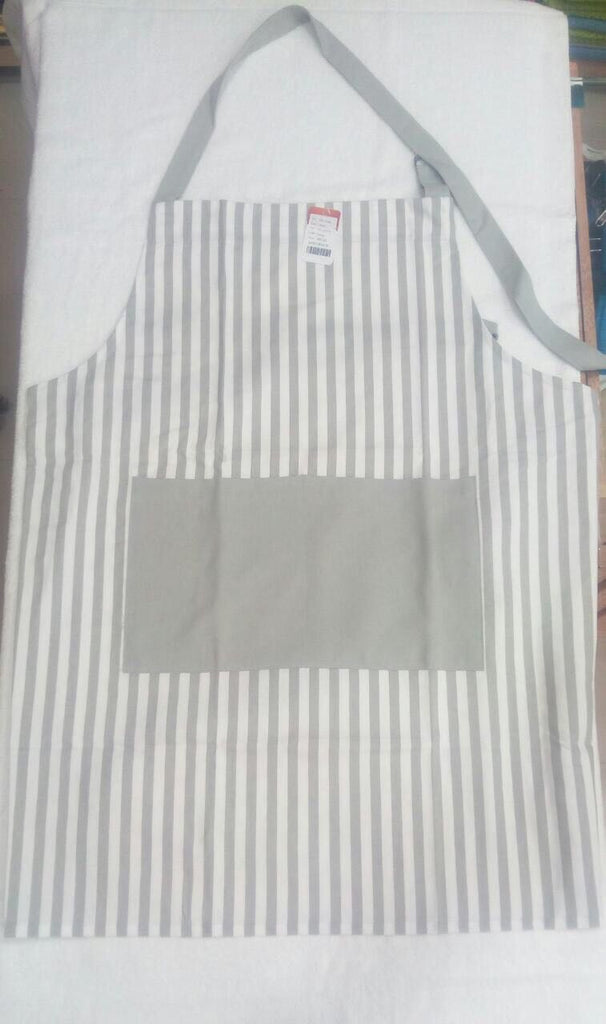 Apron Thin Stripe Grey