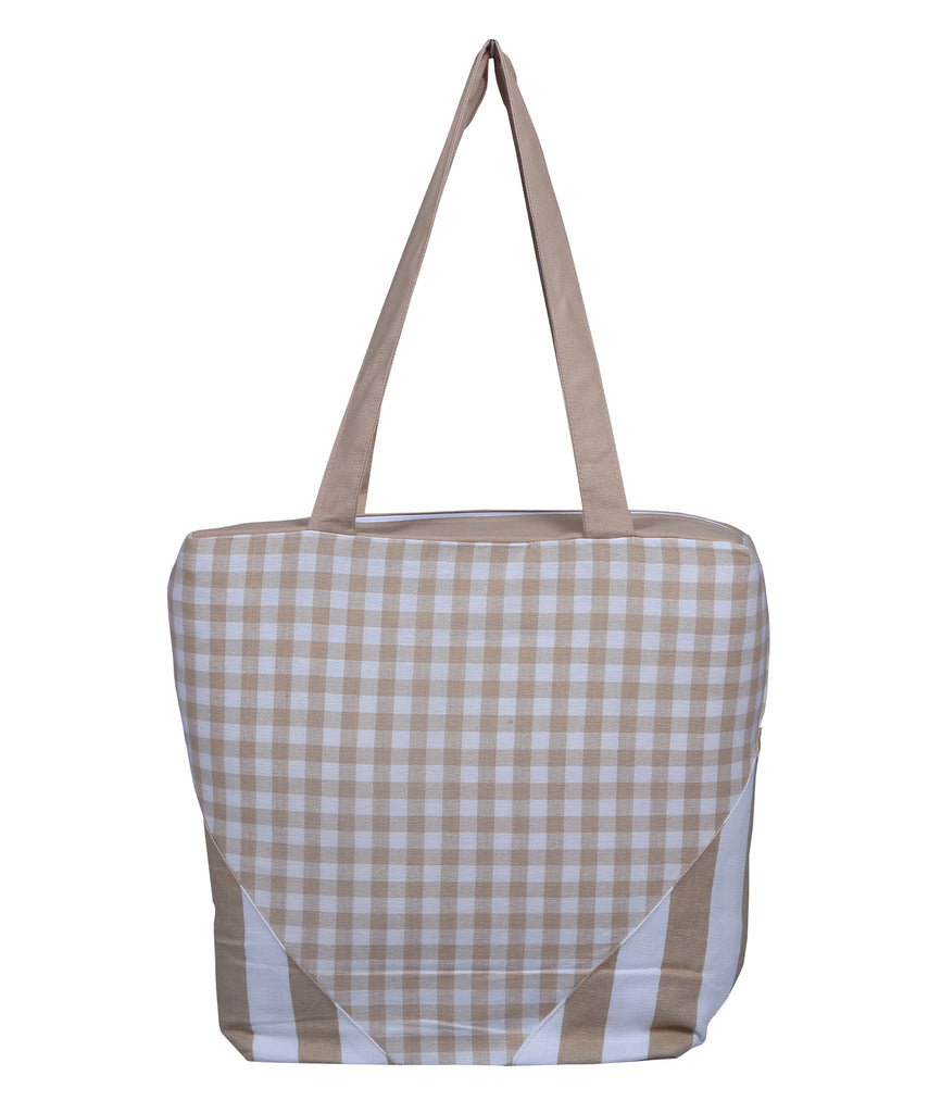 Handbag - Gingham Check Beige