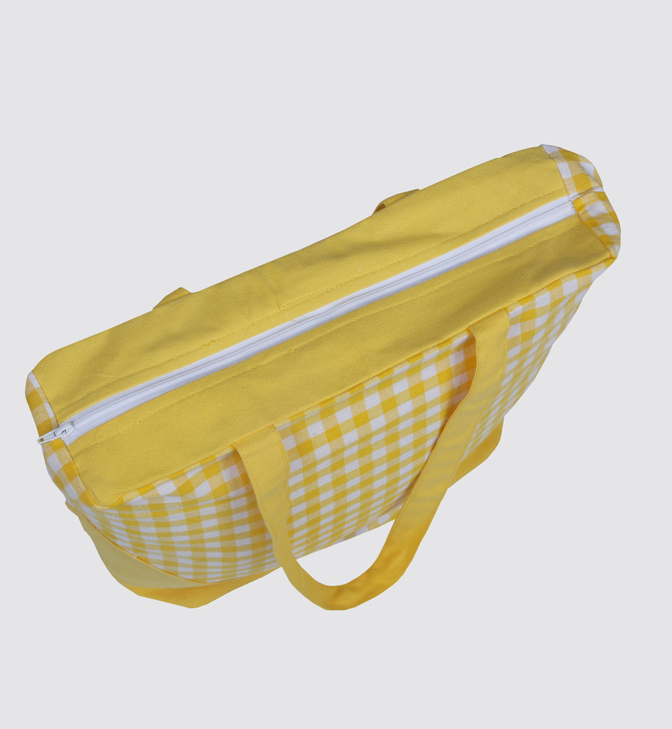 Handbag - Gingham Check Yellow