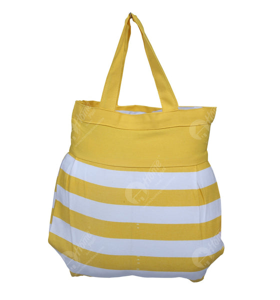 Fancy bag - Thick Stripe Yellow