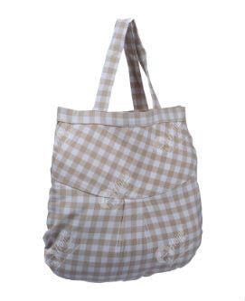 Fancy bag - Gingham Check Beige Ovel