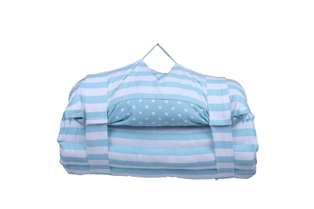 Beach Bed -Polka Dot Blue