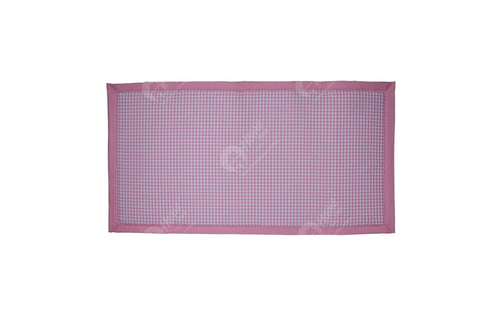 Travel Bed DF - Gingham Check Pink